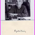 1977 Nobel Medicine ROGER GUILLEMIN Autographed Card 1978 & Pict