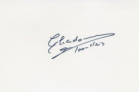 1984 Los Angeles 100m Hurdles Bronze MICHELE CHARDONNET  Autograph