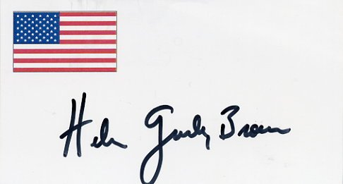 Cosmopolitan HELEN GURLEY BROWN Hand Signed Card