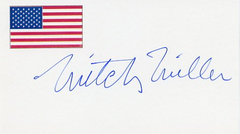 Pop Music Pioneer MITCH MILLER Autographed Card