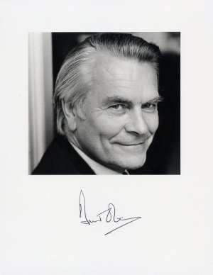 Former British Foreign Secretary &amp; SDP DAVID OWEN Hand Signed Photo
