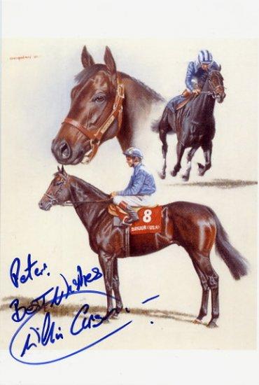 Great Scottish Jockey WILLIE CARSON Hand Signed Photo Card