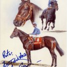Great Scottish Jockey WILLIE CARSON Hand Signed Photo Card