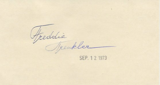 Comic Ice Skater FREDDIE TRENKLER  Autographed Card  '73