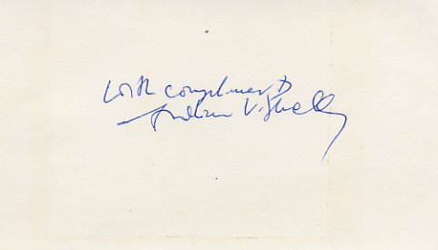 1977 Nobel Medicine ANDREW SCHALLY Hand Signed Card 1970s