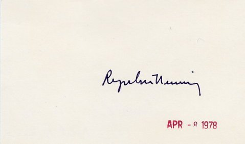1977 Nobel Prize in Medicine ROGER GUILLEMIN Autographed Card from 1978