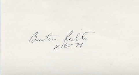 1976 Nobel Physics BURTON RICHTER  Hand Signed Card 1976
