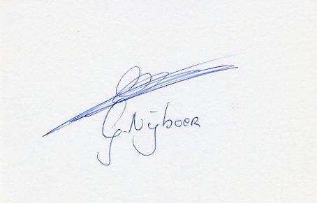 1980 Moscow Marathon Silver GERARD NIJBOER  Autograph 1980