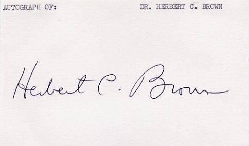 1979 Nobel Chemistry HERBERT BROWN Signed Card from  1980