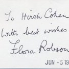 English Actress FLORA ROBSON Autograph Note Signed 1975