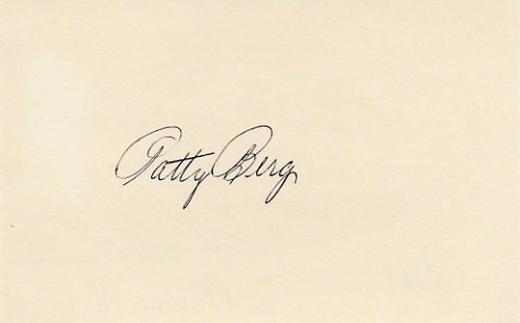 Golf Great PATTY BERG  Autographed Card  from 1978