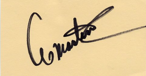 Singer & Actor AL MARTINO  Autographed Card  1986