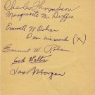 1928 Amsterdam 1500m Olympian JACK  WALTER  Autograph 1930s (+5)