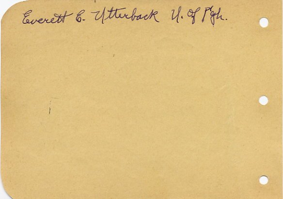 1932 US Long Jump Champion EVERETT UTTERBACK Autograph 1930s