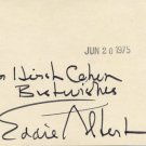 American Actor  EDDIE  ALBERT  Autographed Card 1975