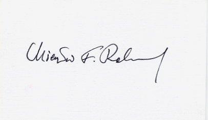 Former Prime Minister of Poland MIECZYSLAW RAKOWSKI Hand Signed Card