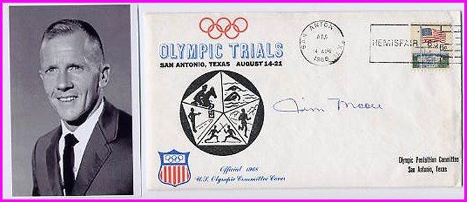 1964 Tokyo Modern Pentathlon Silver JAMES MOORE Hand Signed Cover 1968 & Pict