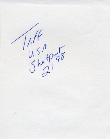 1988 Seoul Shot Put Olympian GREGG TAFRALIS Autograph