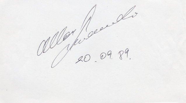 1988 Calgary Nordic Combined Bronze ALLAR LEVANDI Autograph 1989