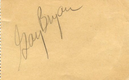 1949 US Long Jump Champion GAY BRYAN  Autograph 1950s