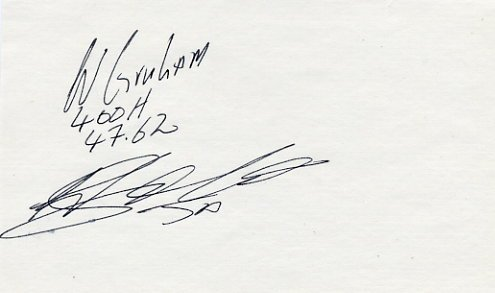 1988 Seoul 4x400m Relay & 1992 Barcelona 400m Hurdles Silver WINTHROP GRAHAM Autograph