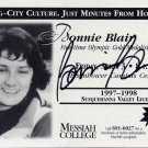 Five-time Speed Skating Gold Medalist BONNIE BLAIR Messiah College Signed Card