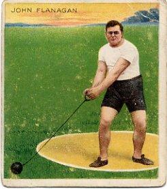 1900-04-08 Olympics Hammer Gold JOHN FLANAGAN Hassan Track Card 1910