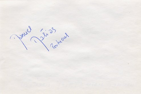 1996 Atlanta Marathon Olympian MANUEL MATIAS Autograph