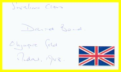 1948 London Yachting Gold DAVID BOND Autographed Card