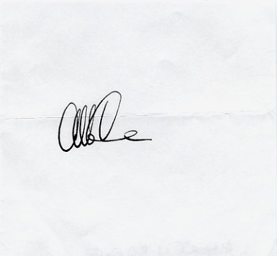 American Physicist & Inventor ALBERT CREWE Autograph