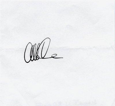 American Physicist & Inventor ALBERT CREWE Autograph