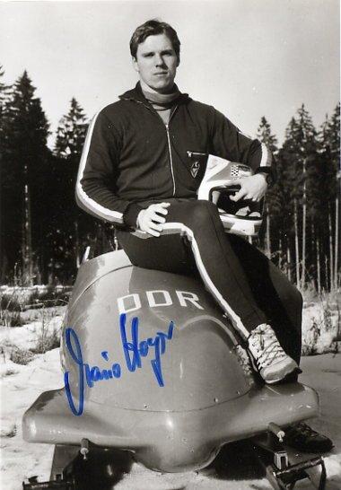1988 Calgary Bobsleigh Bronze MARIO HOYER Hand Signed Photo