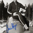 1988 Calgary Bobsleigh Bronze MARIO HOYER Hand Signed Photo