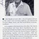 British Explorer JOHN BLASHFORD SNELL Autographed Leaflet