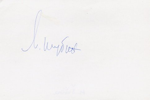 1960 Rome Canoeing Gold MARIYA SHUBINA  Autograph 1980s