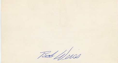 1967 NBA Champion w/76ers & Coach BOB WEISS Hand Signed Card 1970s