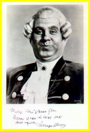 American Bass LORENZO ALVARY Hand Signed Photo as Baron Ochs