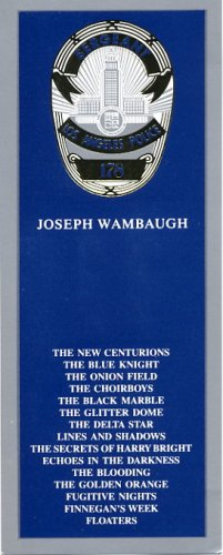 Famous Author JOSEPH WAMBAUGH Autographed Bookmark 1996