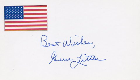 Golf - 1961 US Open GENE LITTLER Autographed Card