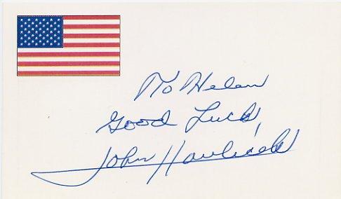 Basketball - Boston Celtics JOHN HAVLICEK Autographed Card 1995