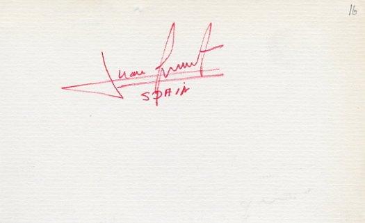Tennis - 1968 Australian Finalist JUAN GISBERT Autograph 1970