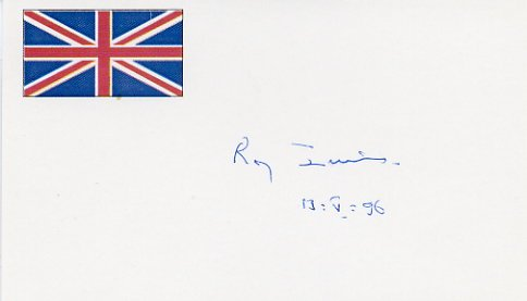 British Politician Founder of the SDP ROY JENKINS Hand Signed Card 1996