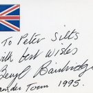 English Novelist BERYL BAINBRIDGE Hand Signed Card 1995