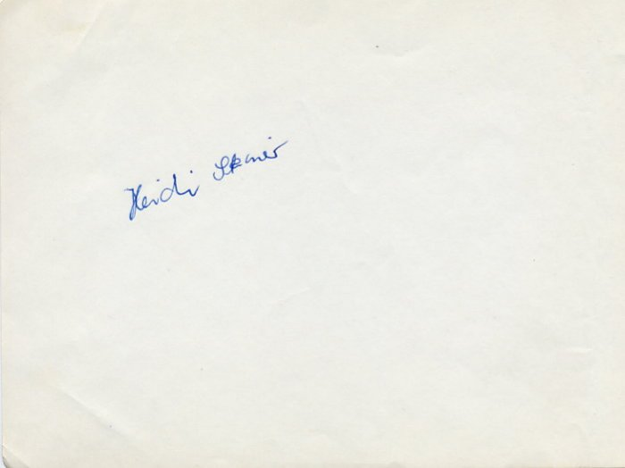 1970 Figure Skating World Bronze HEIDI STEINER  Autograph 1968