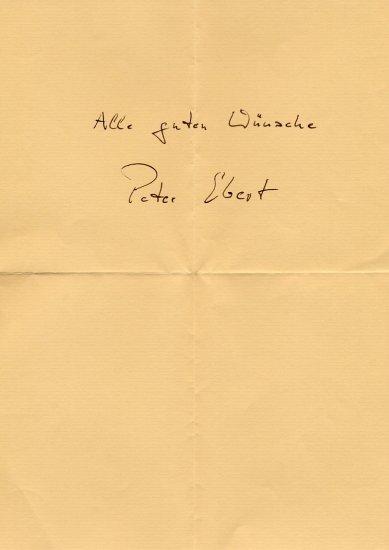 Opera Director PETER EBERT Autographed Sheet 1994