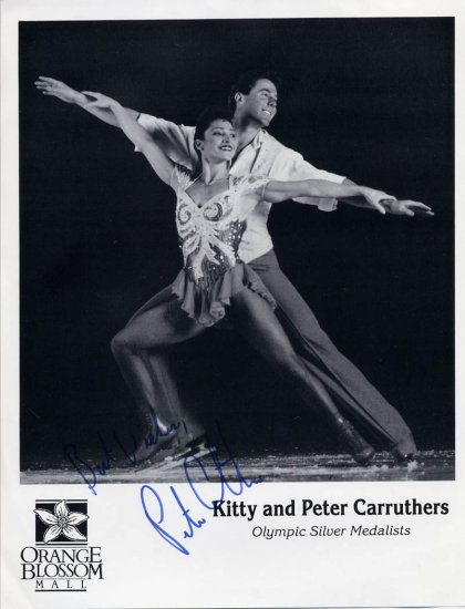 1984 Sarajevo Figure Skating Silver PETER CARRUTHERS Hand Signed Photo