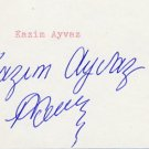 1964 Tokyo Wrestling Gold KAZIM AYVAZ  Autograph 1980s