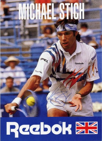1992 Barcelona Tennis Gold MICHAEL STICH Hand Signed Photo 4x6