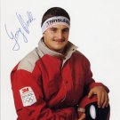 1988-2002 Five Luge Olympic Medals GEORG HACKL Hand Signed Photo 4x6 from 1988