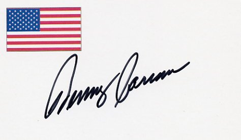 NASCAR Driver & Analyst BENNY PARSONS Autographed Card